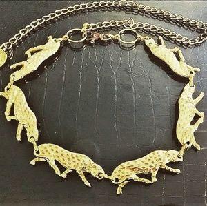 80s Gold tone Cheetah Chain Belt